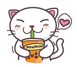 Miw Miw Humour milk cat sticker #386516