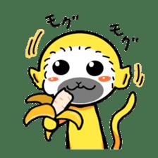 banana daisuki risuzaru kun sticker #387065