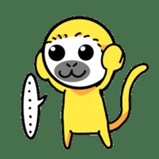 banana daisuki risuzaru kun sticker #387073