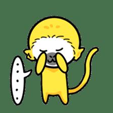 banana daisuki risuzaru kun sticker #387075