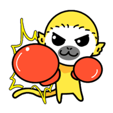 banana daisuki risuzaru kun sticker #387078