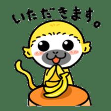 banana daisuki risuzaru kun sticker #387084