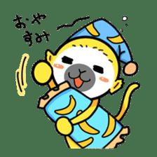 banana daisuki risuzaru kun sticker #387089