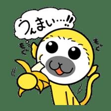 banana daisuki risuzaru kun sticker #387097