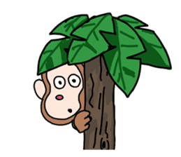 Beans lovely and cute monkey in English sticker #387222