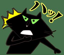 Twinky and black cat MOMO sticker #388626