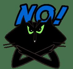 Twinky and black cat MOMO sticker #388634