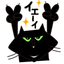 Twinky and black cat MOMO sticker #388637