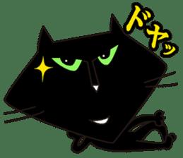 Twinky and black cat MOMO sticker #388641