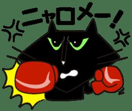 Twinky and black cat MOMO sticker #388656
