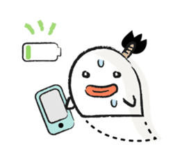 Chonmage Obake sticker #389984
