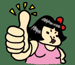 Fat woman momoko sticker #390229