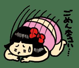 Fat woman momoko sticker #390251