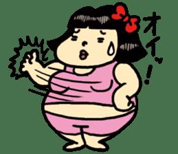 Fat woman momoko sticker #390255