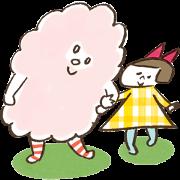 สติ๊กเกอร์ไลน์ MOKUMOKU and Ribbon-chan