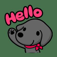 Black Labrador retriever Max sticker #392785