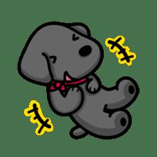 Black Labrador retriever Max sticker #392786