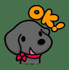 Black Labrador retriever Max sticker #392787