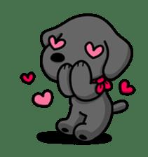 Black Labrador retriever Max sticker #392789