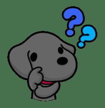 Black Labrador retriever Max sticker #392794