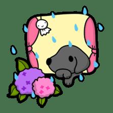 Black Labrador retriever Max sticker #392798