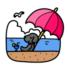 Black Labrador retriever Max sticker #392799
