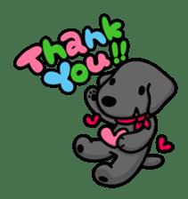 Black Labrador retriever Max sticker #392803