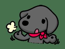 Black Labrador retriever Max sticker #392804