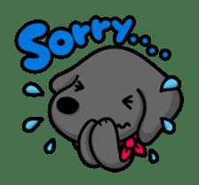Black Labrador retriever Max sticker #392808