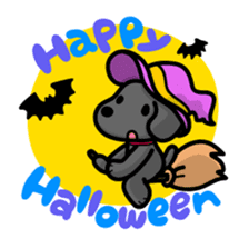 Black Labrador retriever Max sticker #392812