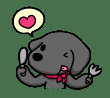 Black Labrador retriever Max sticker #392813