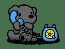 Black Labrador retriever Max sticker #392821