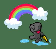 Black Labrador retriever Max sticker #392823