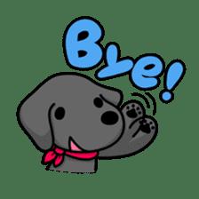 Black Labrador retriever Max sticker #392824