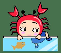 """Original Horoscopes:  Cancer """"The Crab"""" sticker #393590"""