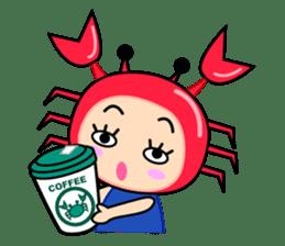 """Original Horoscopes:  Cancer """"The Crab"""" sticker #393600"""