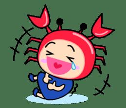 """Original Horoscopes:  Cancer """"The Crab"""" sticker #393603"""