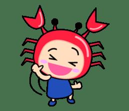 """Original Horoscopes:  Cancer """"The Crab"""" sticker #393607"""