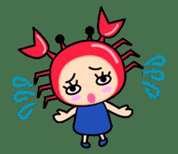 """Original Horoscopes:  Cancer """"The Crab"""" sticker #393609"""