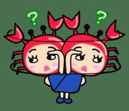 """Original Horoscopes:  Cancer """"The Crab"""" sticker #393612"""