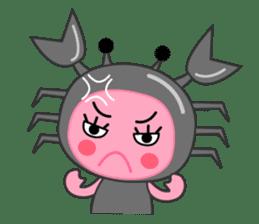 """Original Horoscopes:  Cancer """"The Crab"""" sticker #393615"""