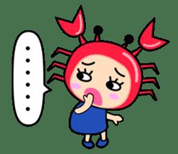 """Original Horoscopes:  Cancer """"The Crab"""" sticker #393623"""
