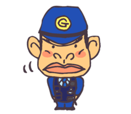 The cop of a gorilla for English sticker #393634