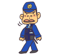 The cop of a gorilla for English sticker #393645