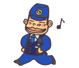 The cop of a gorilla for English sticker #393654