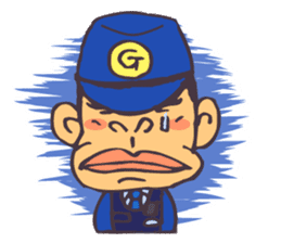 The cop of a gorilla for English sticker #393657