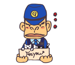 The cop of a gorilla for English sticker #393658