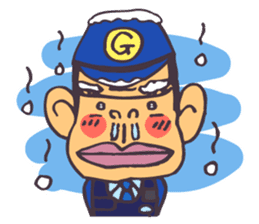 The cop of a gorilla for English sticker #393659