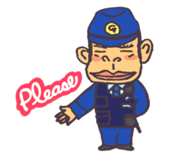 The cop of a gorilla for English sticker #393663