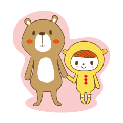 Costume bear and brown bear